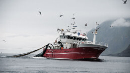 Fischkutter mit Netz im Schlepptau | kelonya.ch