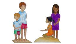 Kinder zum Ausschneiden Vorschaubild | kelonya.ch